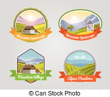 Vector Clip Art of alpine meadows csp5114121.