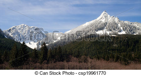 Picture of Pointed Ridge Top Cascade Mountain Range North Cascades.