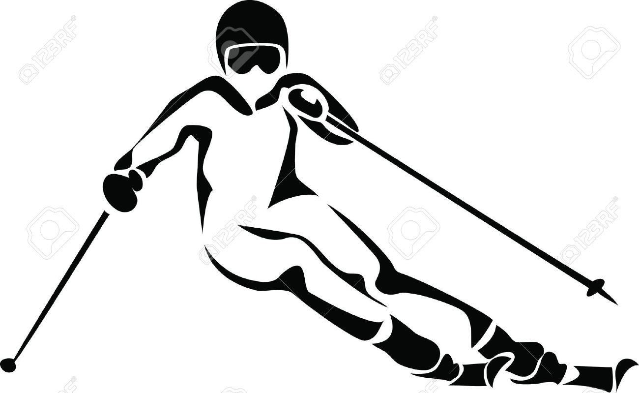 Alpine skiing clipart.