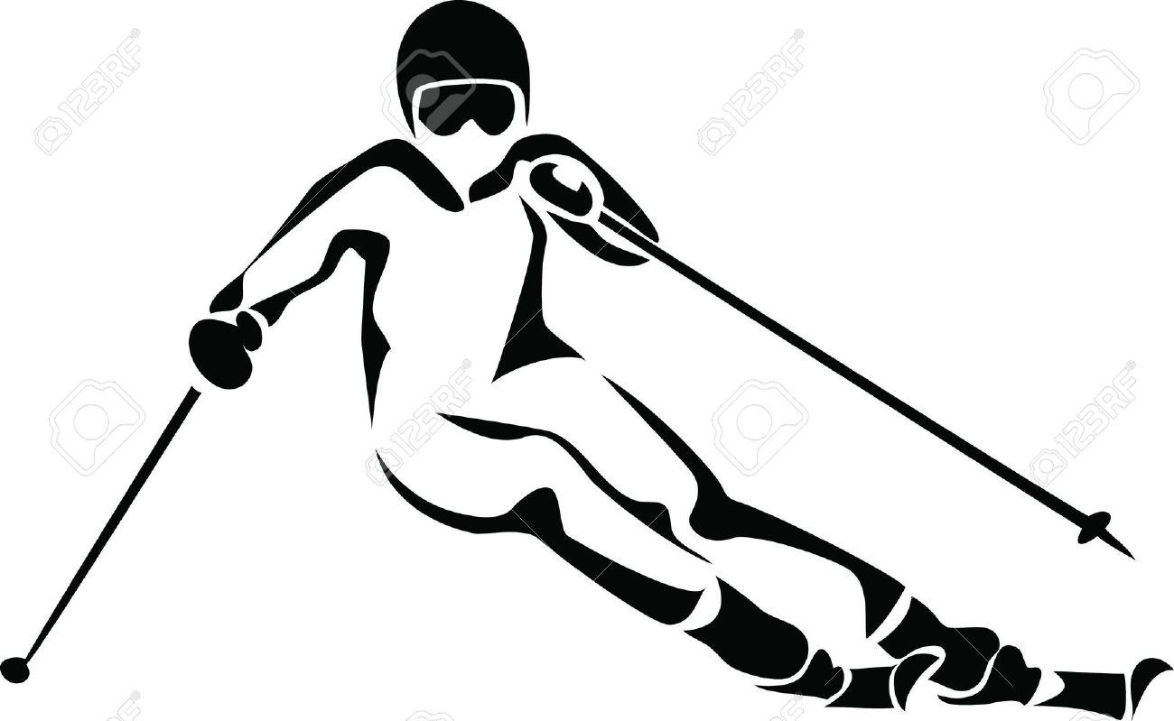 Alpine skiing clipart clipground - Ski alpin dessin ...