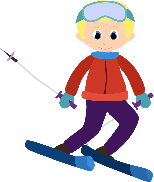 Free vector graphic: Alpine, Ski, Clipart, Vector, Boy.