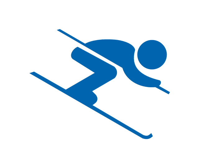 Alpine skiing clipart.