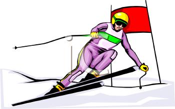 Alpine Skiing Clip Art.