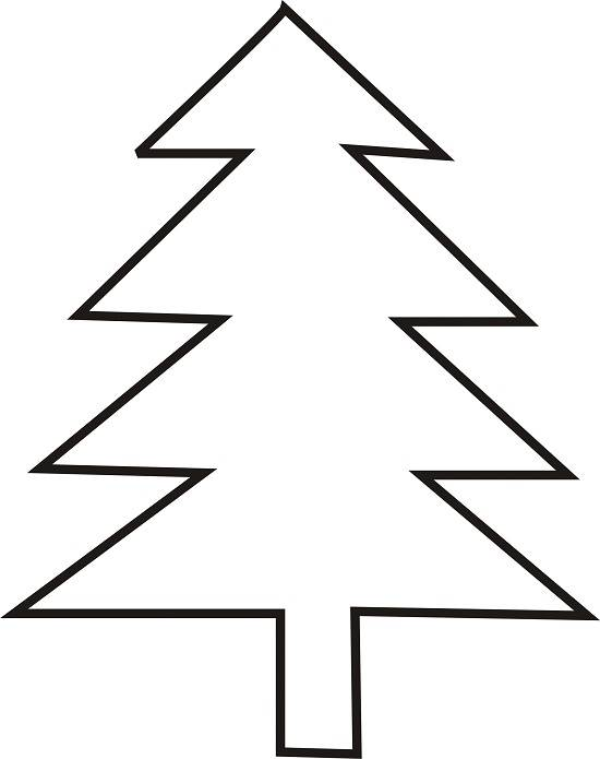 259 Christmas Tree Outline free clipart.