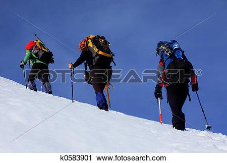 Stock Photography of Alpine walk k0583901.