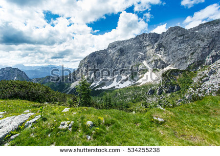 Norway Mountains Rocky Terrain Contrast Photo Stock Photo.