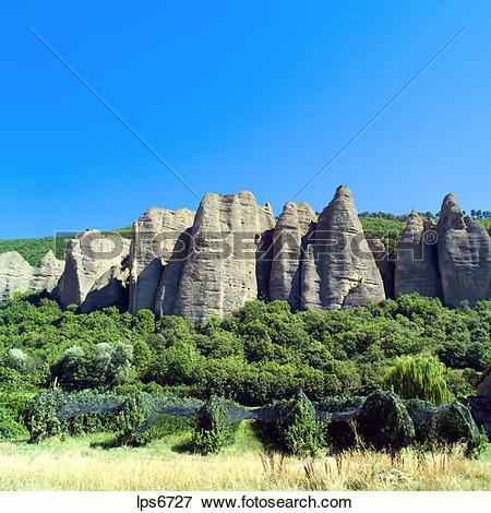 Picture of rochers des mees cliff and rock formation haute.
