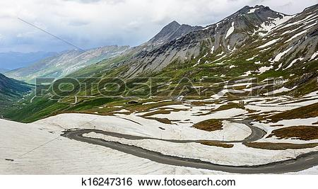 Stock Images of Colle dell'Agnello, French Alps k16247316.