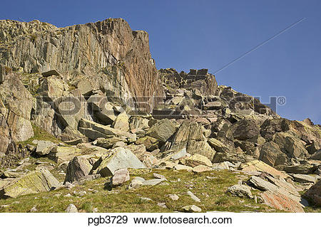 Stock Photograph of Parc National du Mercantour. Chaos of multi.
