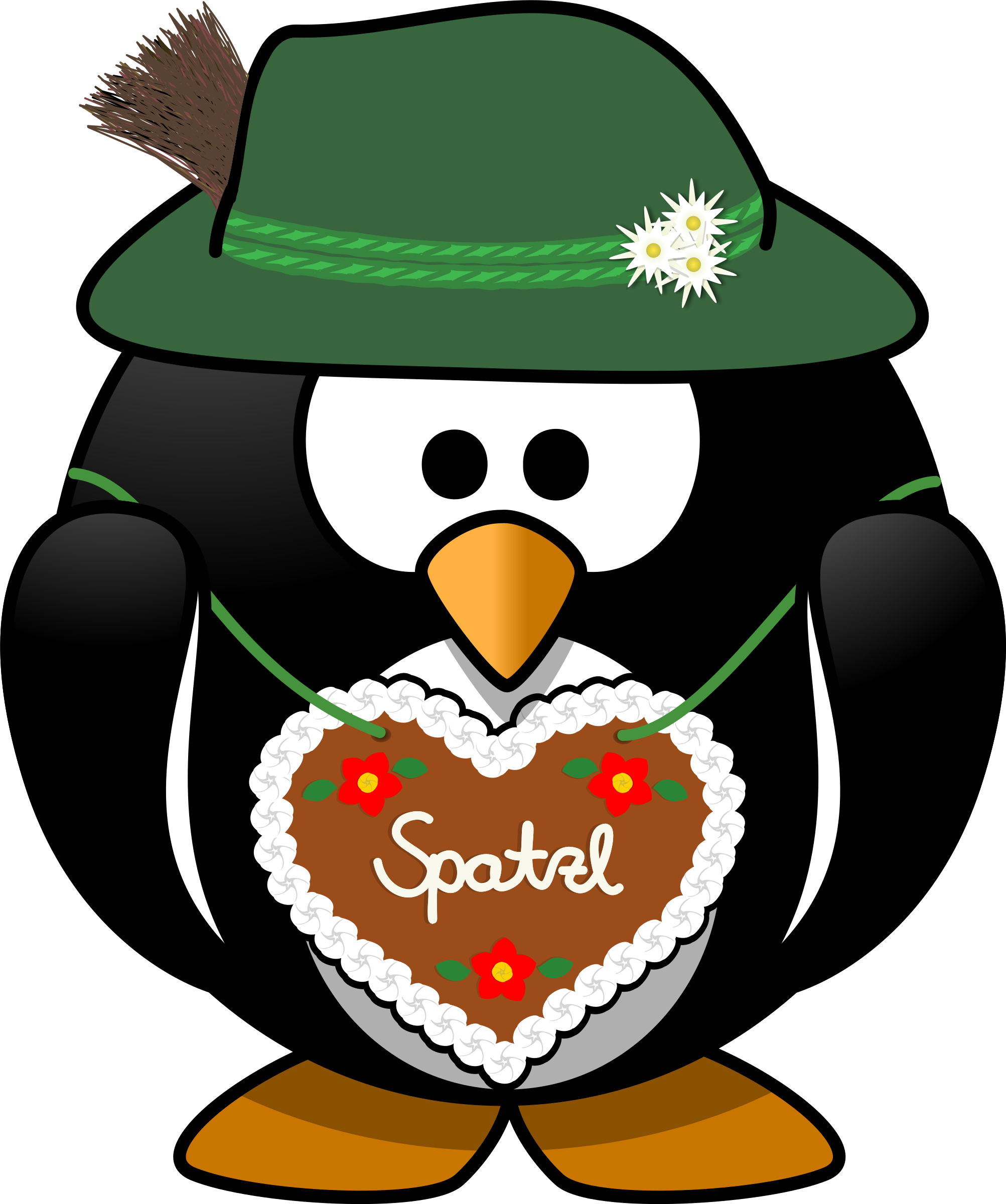 Penguin from the Alps vector Clipart.