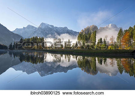 "Stock Image of ""Totes Gebirge, dead mountains range with."