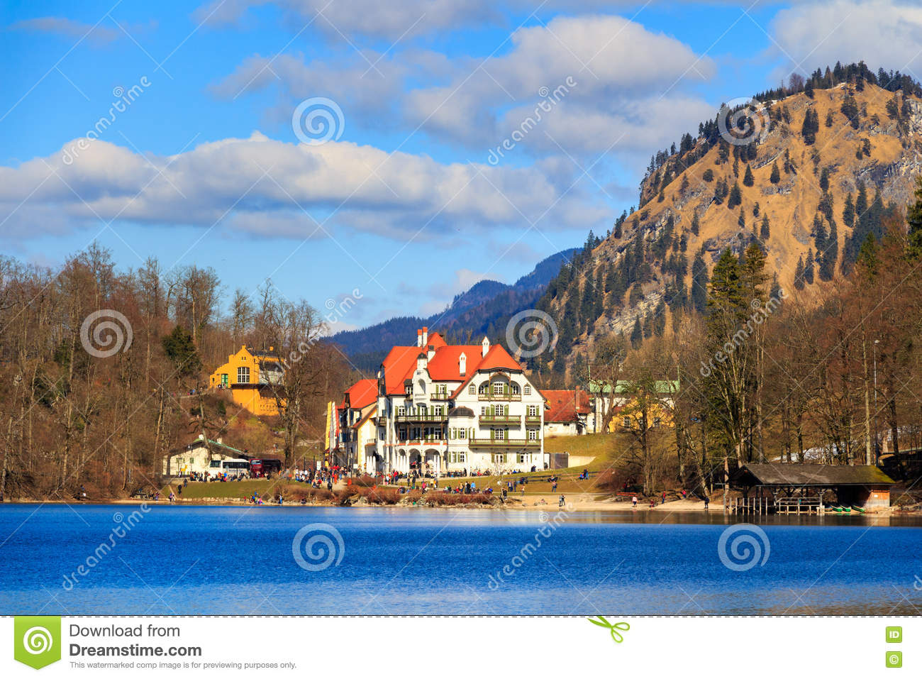 Alpsee In Fall Royalty Free Stock Photography.