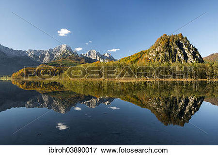 "Picture of ""Totes Gebirge, dead mountains range with reflections."