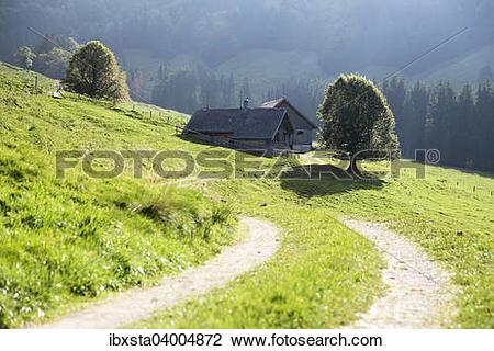 """Stock Photo of """"Gross Euchst Alm, Kronberg, Alpstein, Appenzell."""