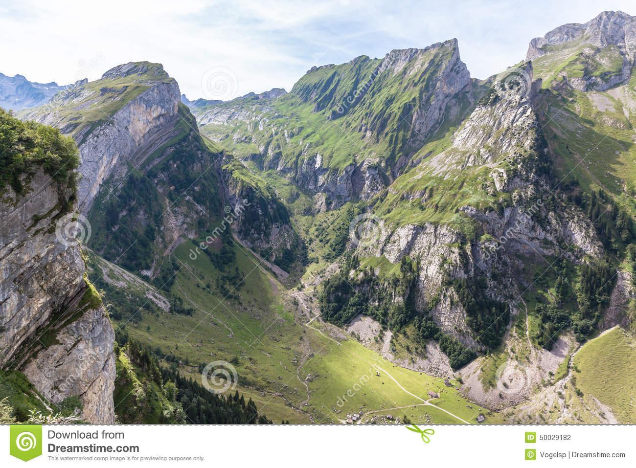 Alpstein Massif Stock Photo.