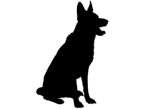 Free German Shepherd Silhouette Clip Art at GetDrawings.com.