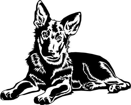 German Shepherd/Alsatian Puppy Dog Car,Van Sticker #3.