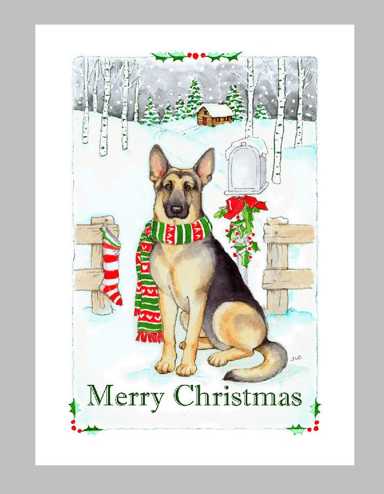 German shepherd card.