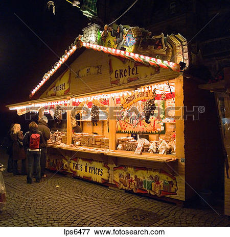Picture of france alsace strasbourg christmas market gingerbread.