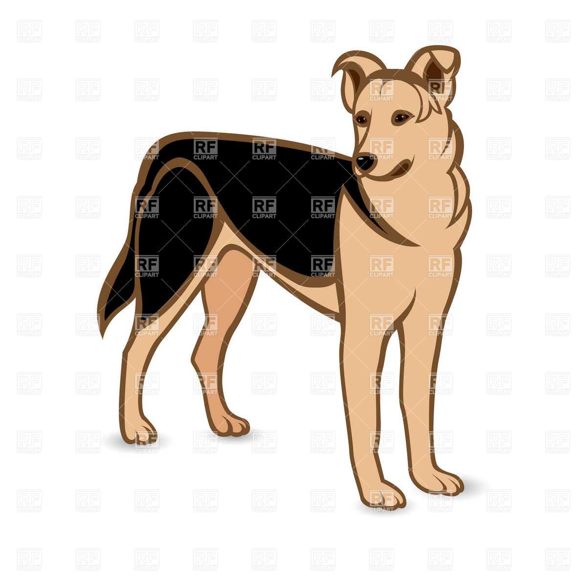 German Shepherd Dog Clipart.
