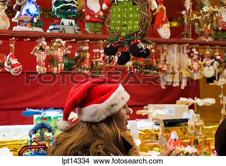 "Stock Photo of Christmas market, ""La Petite France"" district."