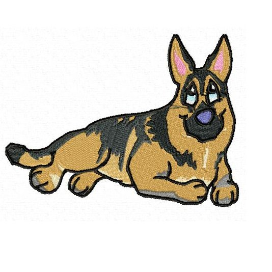 German Shepherd Clipart.