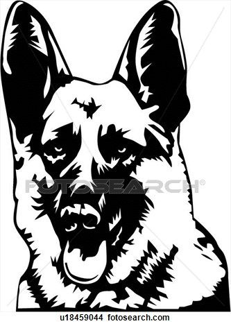 German shepherd vector clipart.
