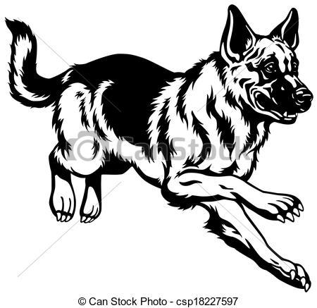 Alsatian dog clipart.