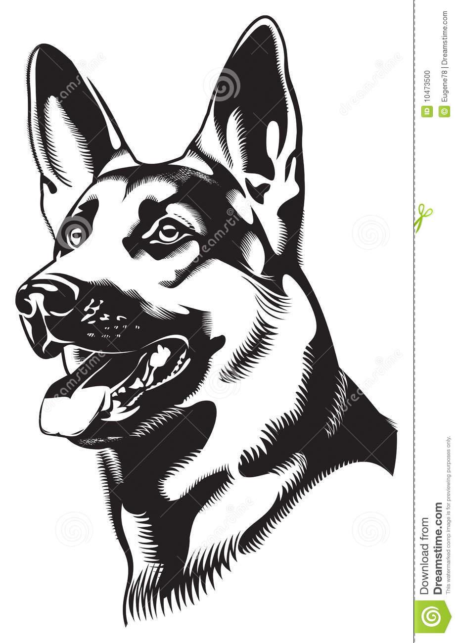 German shepherd dog clipart download.