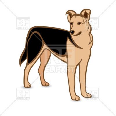 German shepherd dog Vector Image #8188.