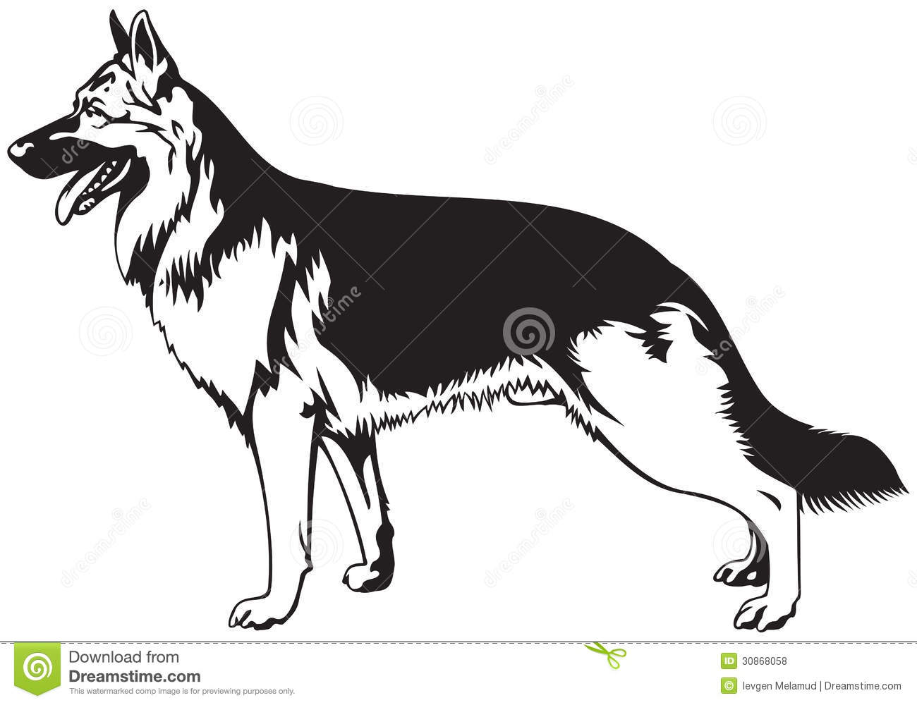 German shepherd clipart dog.