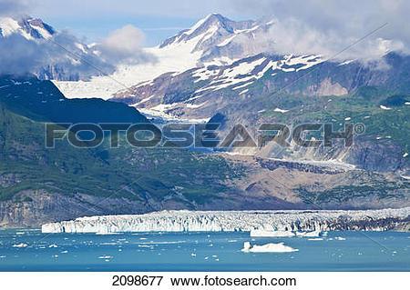 Picture of Alsek Glacier Empties Into Alsek Lake At Glacier Bay.