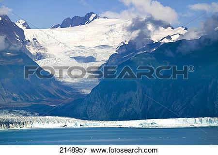 Picture of Alsek Glacier Below St.Elias Mountains Glacier Bay.