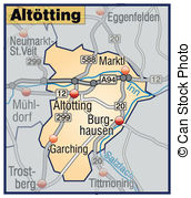 Altoetting map Vector Clip Art EPS Images. 12 Altoetting map.