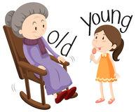 Clipart jung und alt.