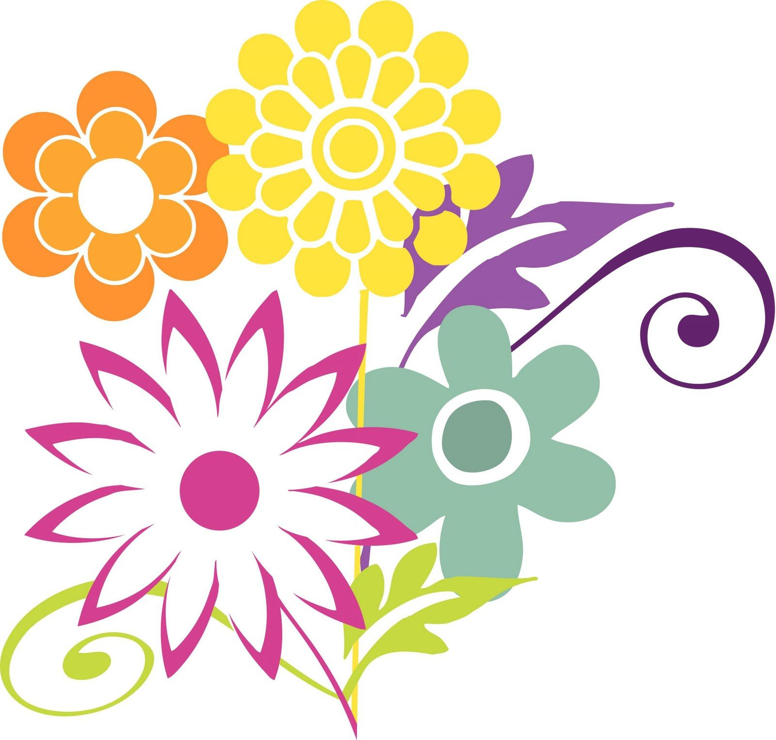 Free Clipart, April Flowers.