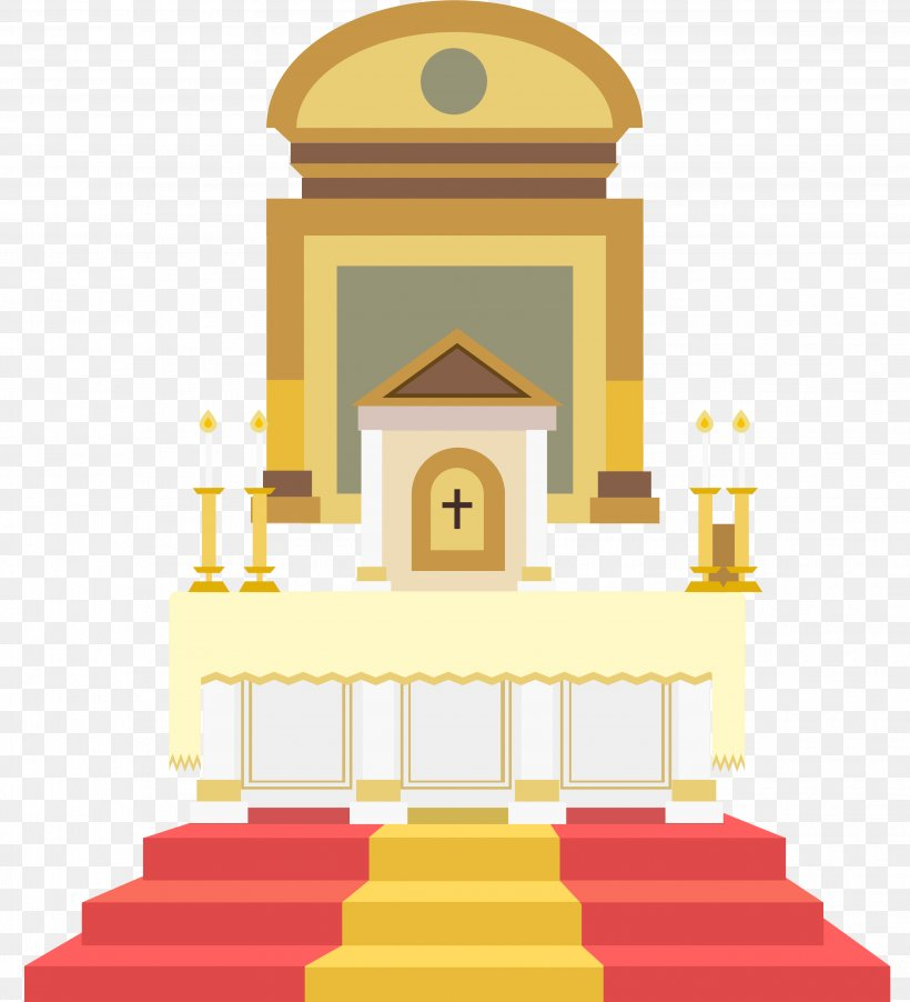 Altar In The Catholic Church Illustration, PNG, 3657x4024px.