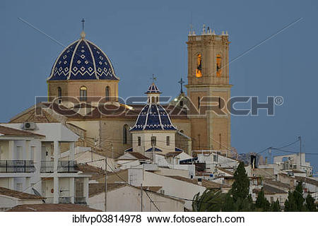 "Pictures of ""Church of Nuestra Senora del Consuelo, Altea, Costa."