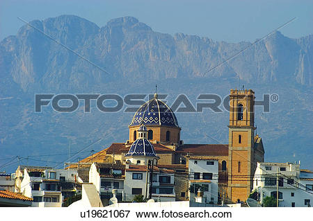 Picture of Spain, Alicante, Altea, Architecture, Art, Building.