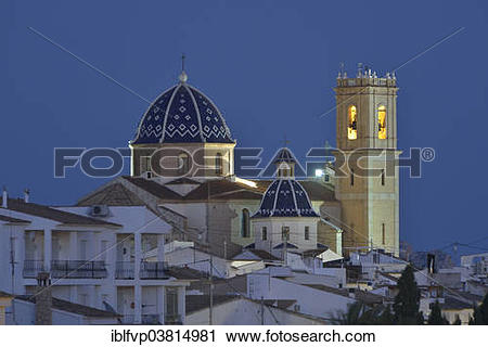 "Stock Photography of ""Church of Nuestra Senora del Consuelo, Altea."