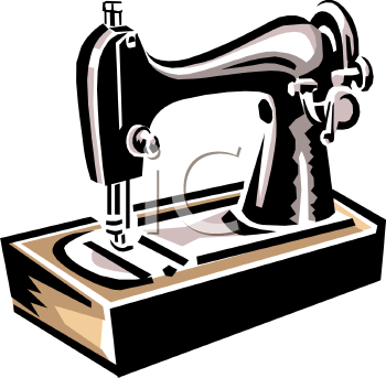 Sewing alterations clipart.