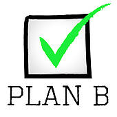 Stock Illustration of Plan B Represents Fall Back On And.