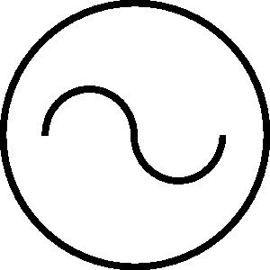 Ac symbol.