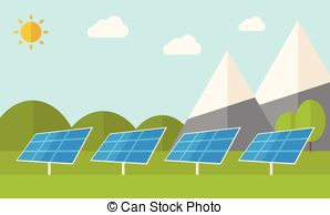 Vectors of Alternative energy, solar power system csp7783303.