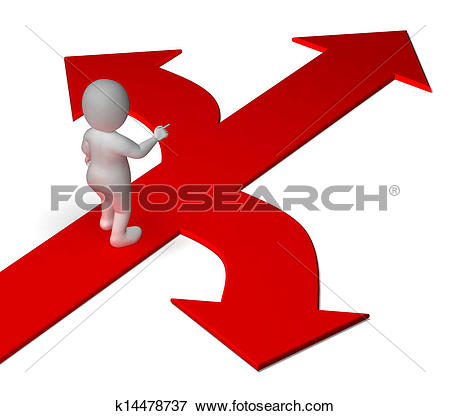 Stock Photo of Arrows Choice Shows Options Alternatives Or.