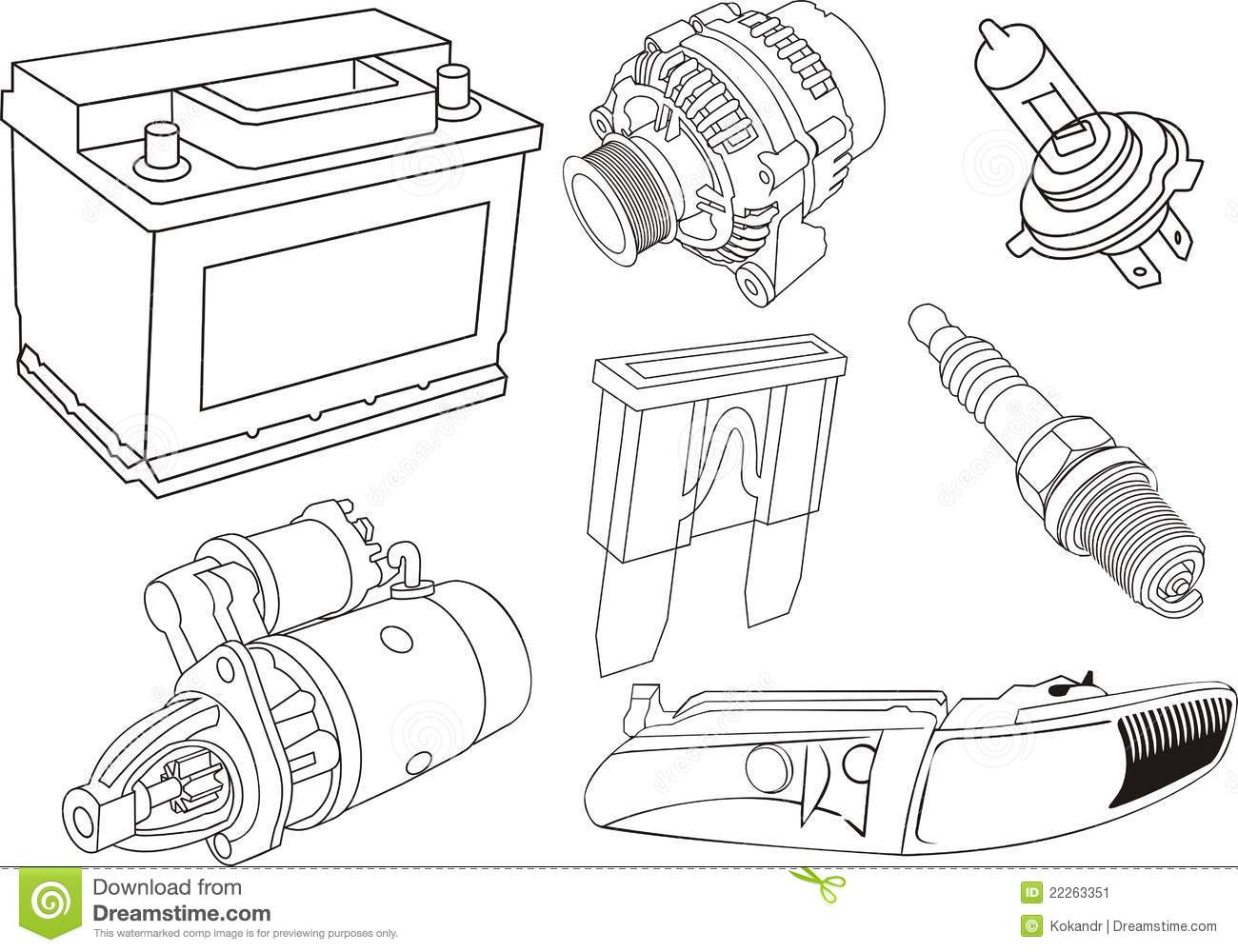Alternator Stock Illustrations.