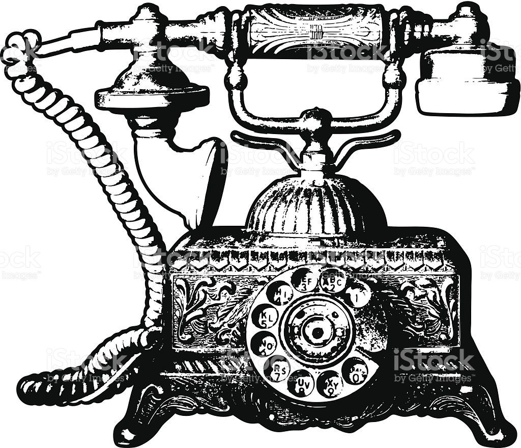 Old Telephone Clip Art, Vector Images & Illustrations.