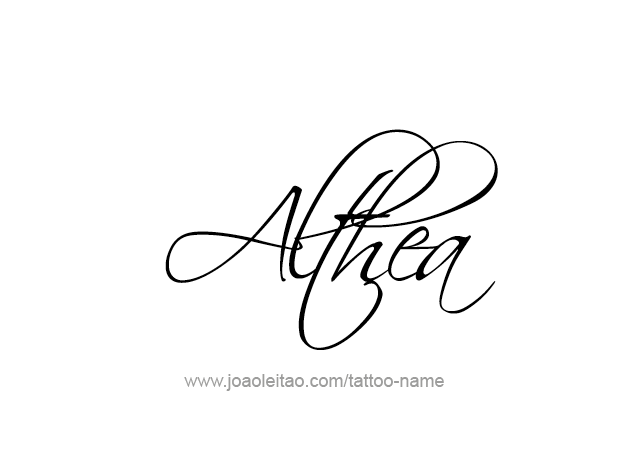 Althea Mythology Name Tattoo Designs.