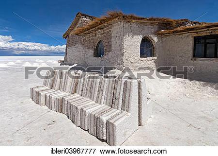"Picture of ""Playa Blanca Salt Hotel made from salt blocks, Salar."