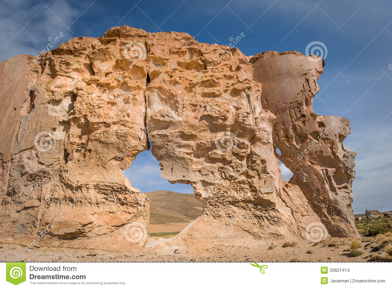 Valle De Rocas Rock Formations, Altiplano Bolivia Stock Images.